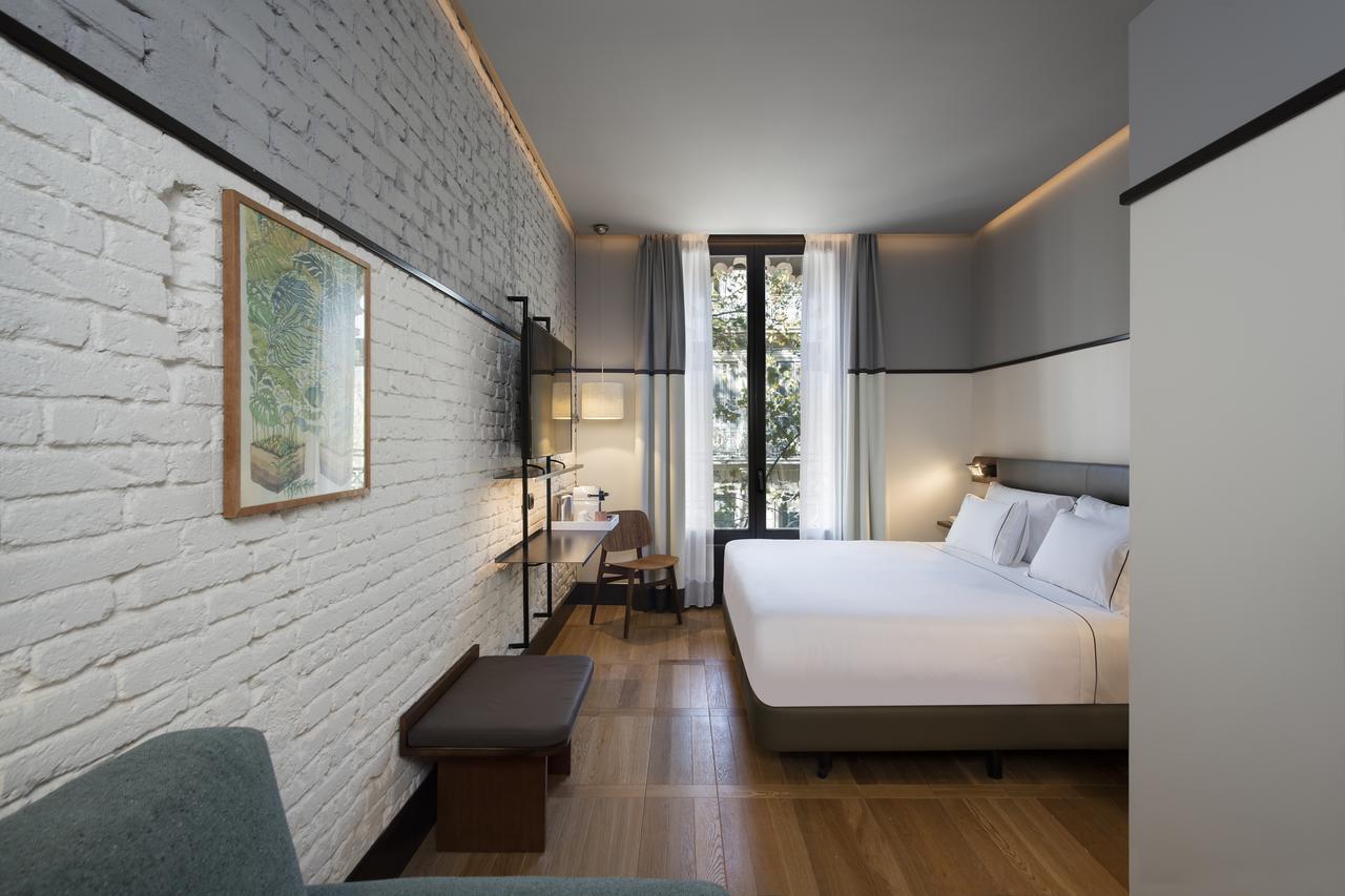 Kamer van een van de best beoordeelde hotels in Barcelona, hotel Praktik Essens