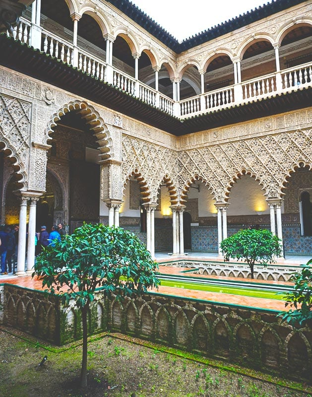 Bekende bezienswaardigheid in Sevilla, het Real Alcazar