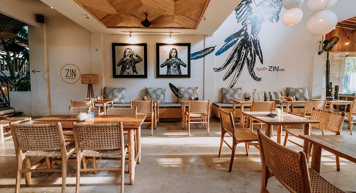 Interieur van restaurant ZIN op Bali