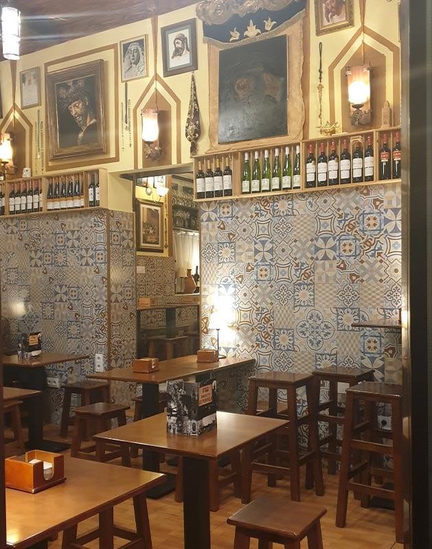 Interieur tapas bar in Sevilla