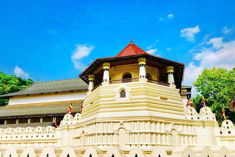 Tempel van de tand in Kandy in Sri Lanka