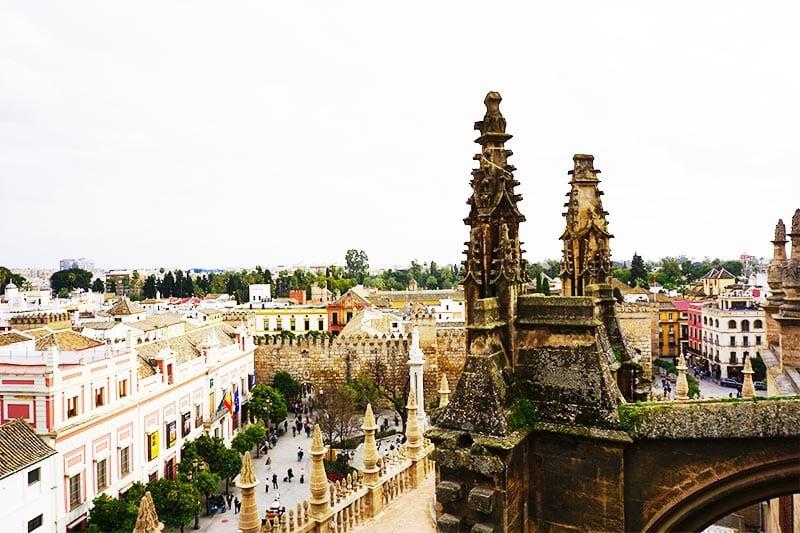 Uitzicht op Sevilla van de kathedraal