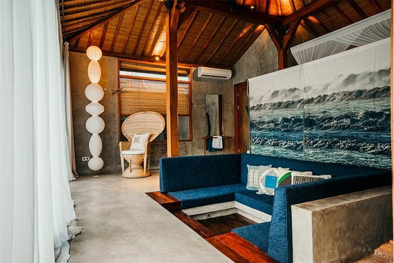 Zithoek in kamer ZIN hotel Bali