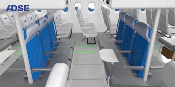 Zithoek in een vliegtuig