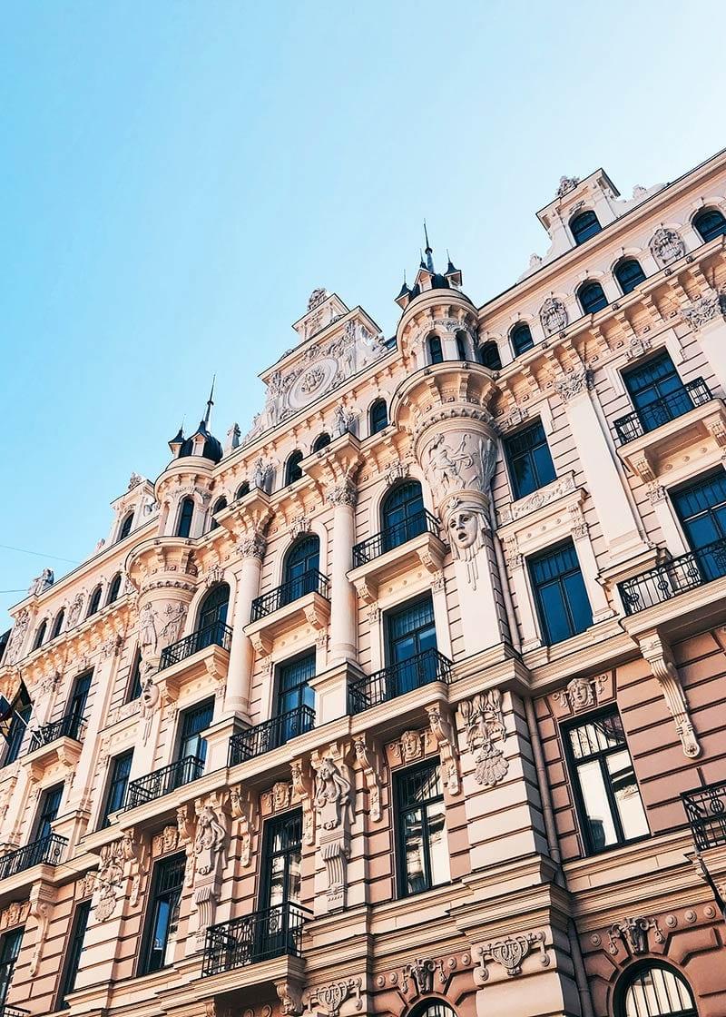 art nouveau gebouwen in Riga
