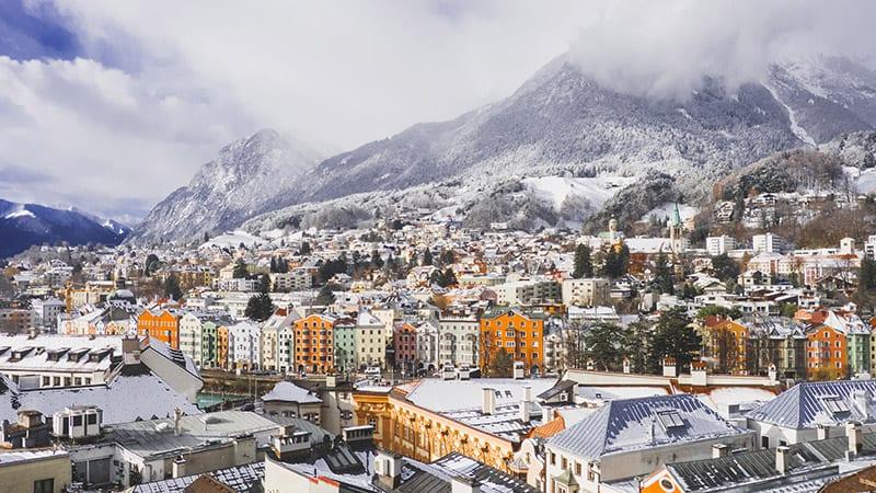 Innsbruck in Europa met de trein