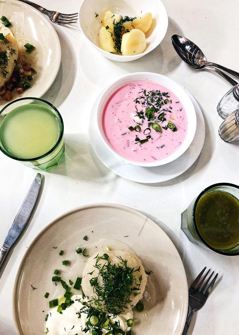 Eten in de makt van Vilnius