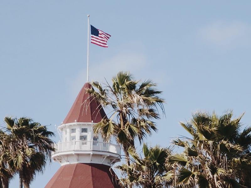 amerikaanse vlag in san diego