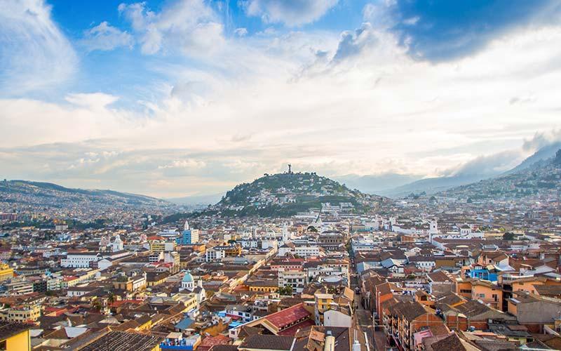 Uitzicht op Quito in Ecuador