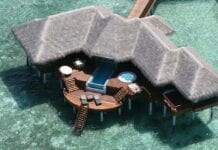 Huvafen Fushi resort op de Malediven
