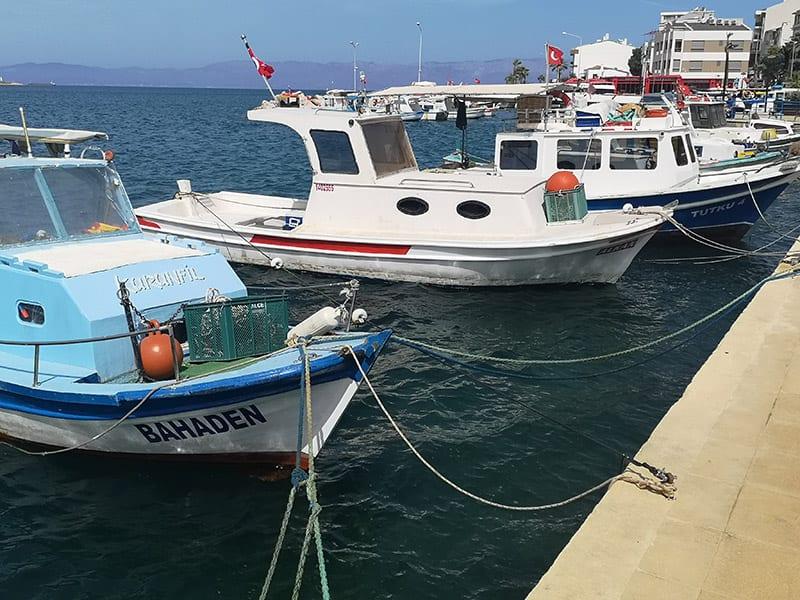 boten in het water Egeïsche kust