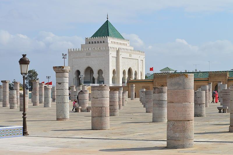 Mausoleum van Mohammed V in Rabat, een van de Marokkaanse Koningssteden