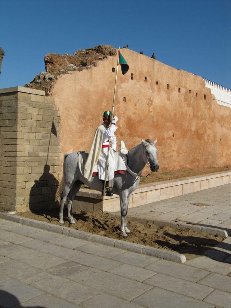 bewaker te paard Rabat