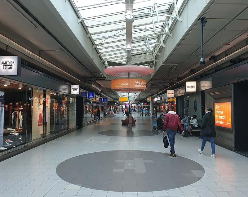 Winkelen op Schiphol