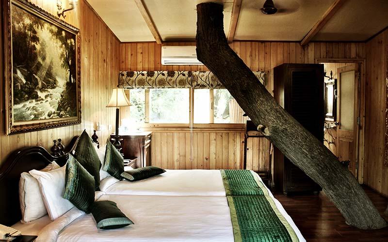 Kamer in The Tree House Resort in India