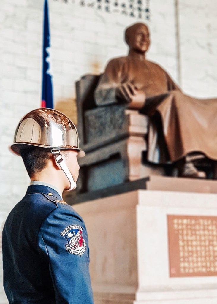 reis naar taiwan mausoleum van Chiang Kai-shek