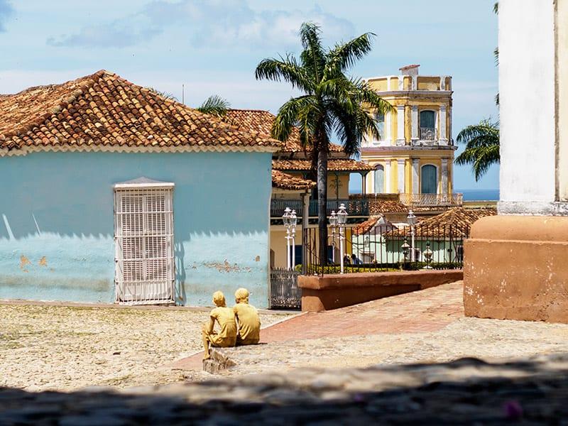 gekleurde huizen op cuba