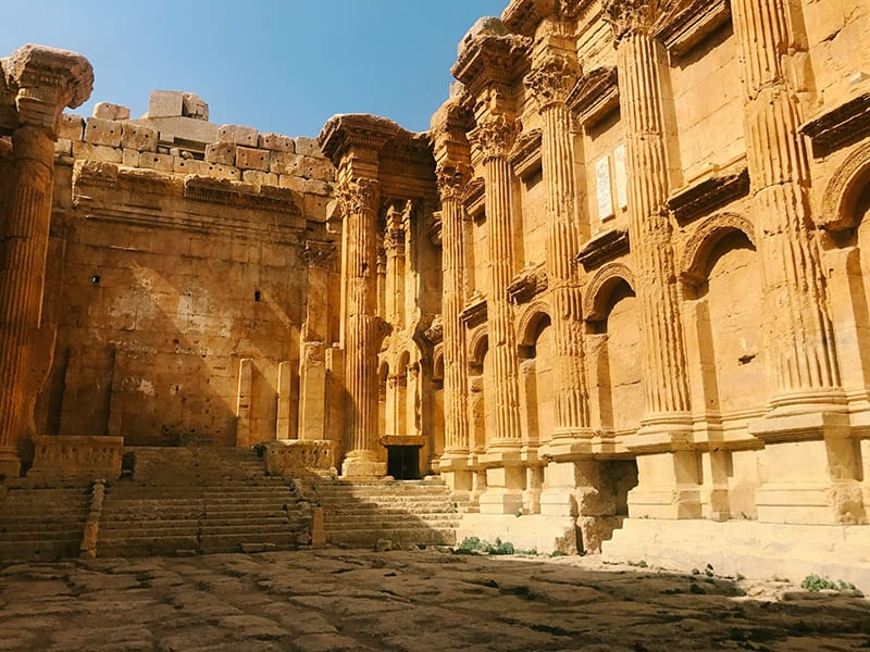 baalbek ruinen libanon