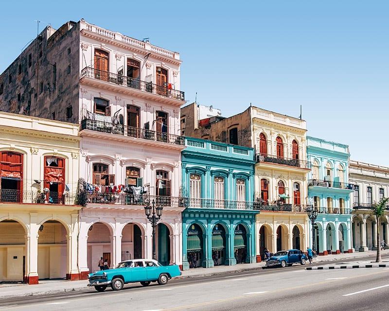 gekleurde straten van havana