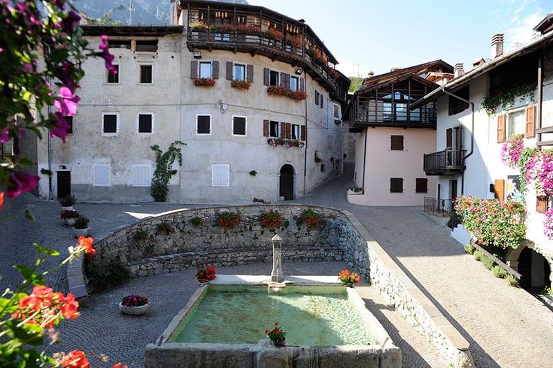 Rango la piazza, een van de dorpen in Trentino