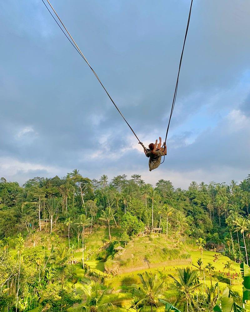 Ubud swing rijstterras