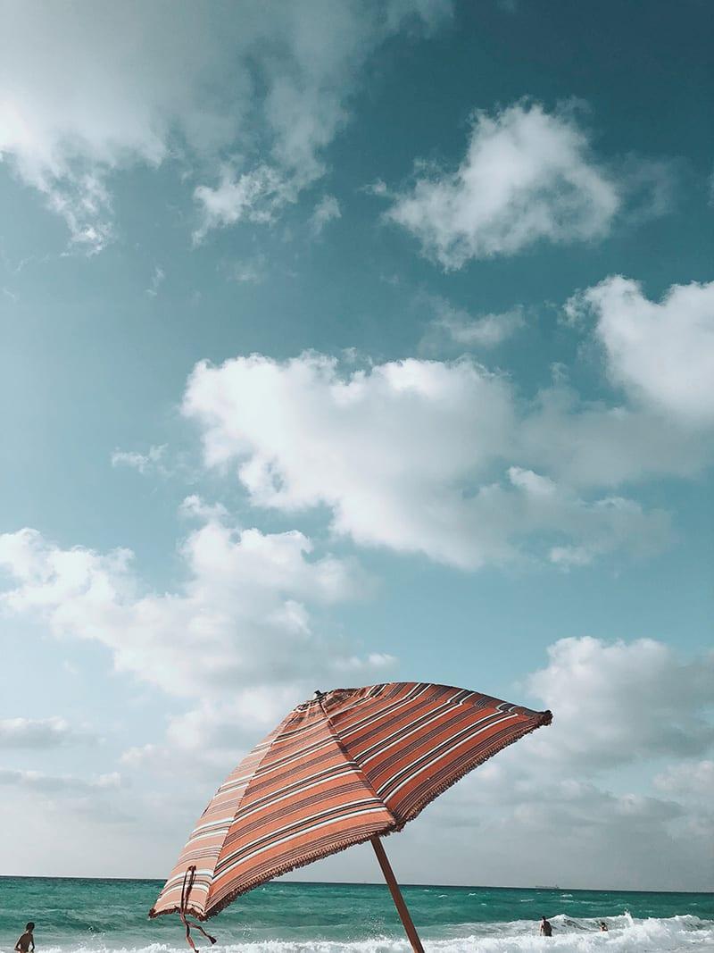 aan het strand