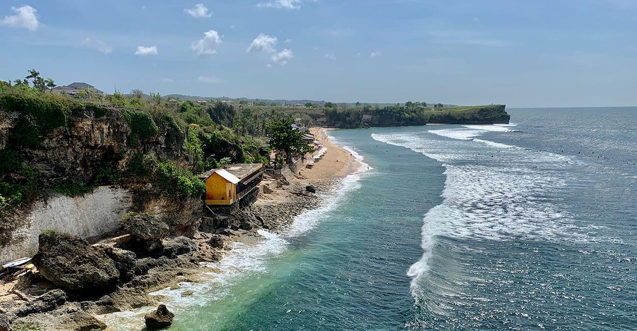 Een van de stranden aan zee op Bali