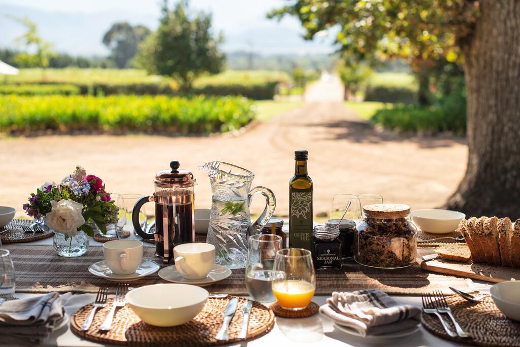 Genieten van ontbijt bij Camissa House (Oranjezicht) in Franschhoek