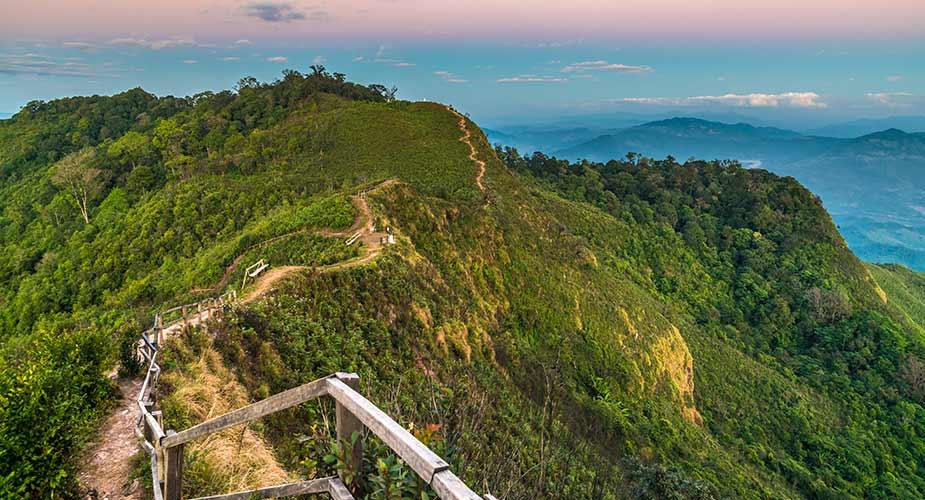 Groen omgeving van Chiang Rai in Thailand