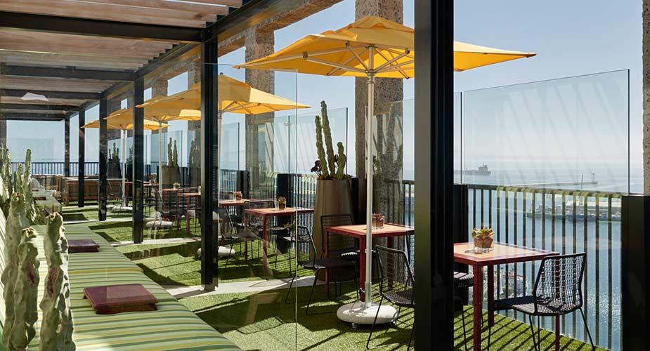 Genieten op het dakterras van The Silo, een van de leukste hotels in Kaapstad