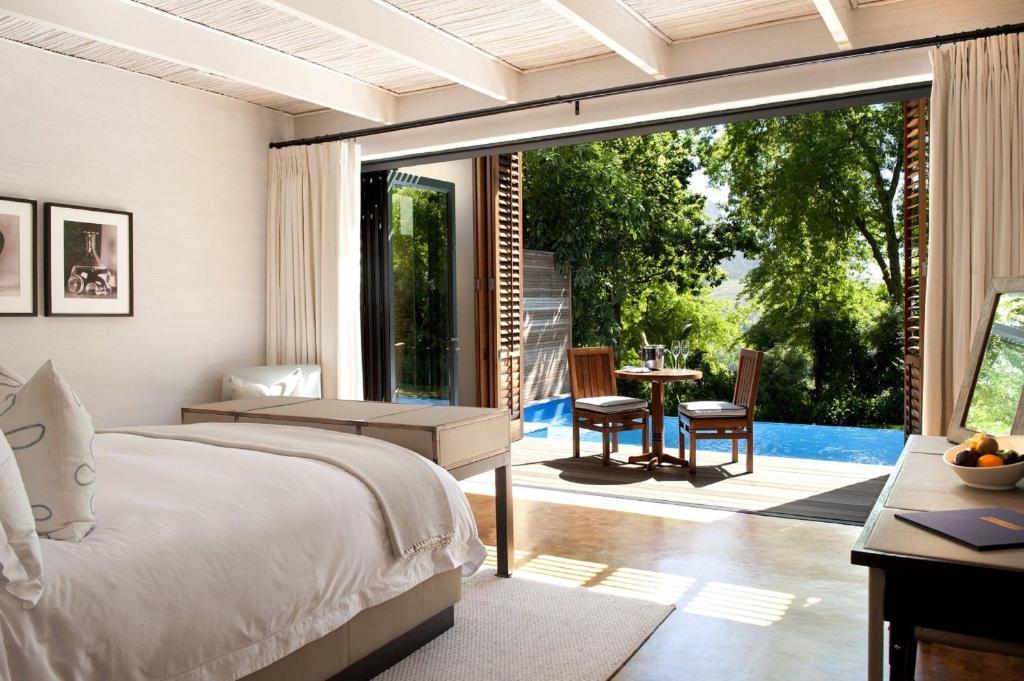 Kamer met prive zwembad
