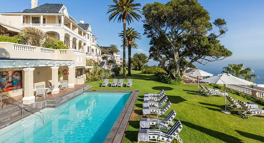 Hotel Ellerman House in ongetwijfeld een vande leukste hotels in Kaapstad, zie vooral deze tuin met uitzicht