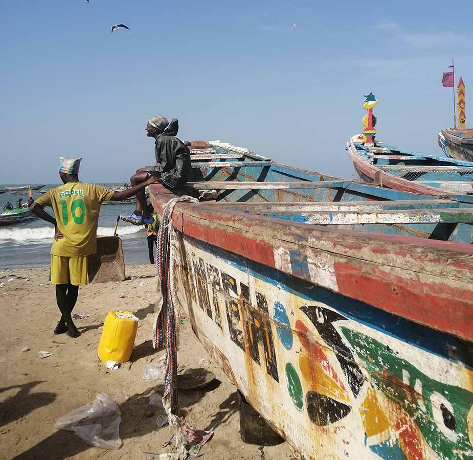 het strand bij Gambia