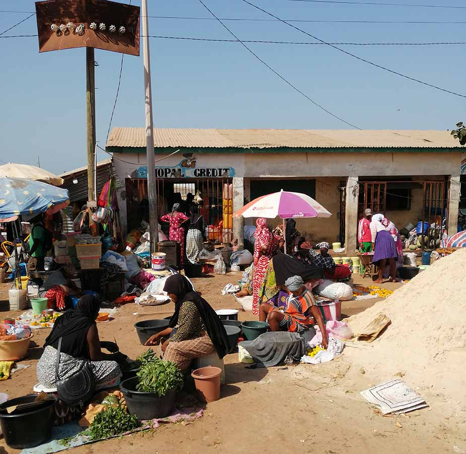 Markt in Gambia