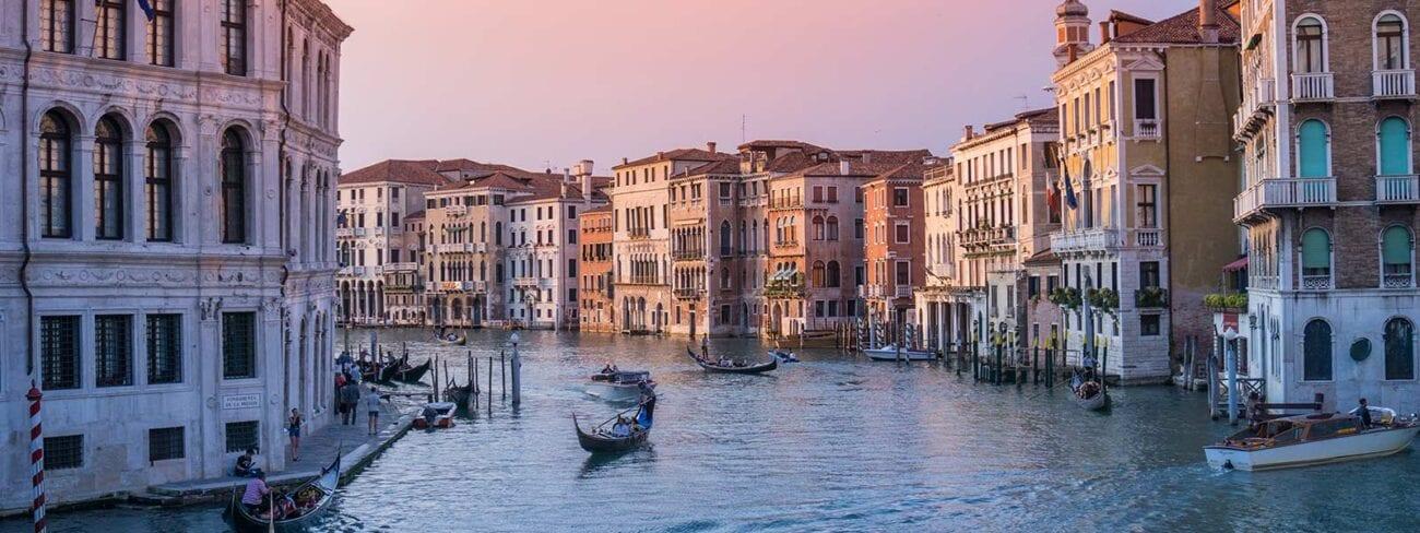 Zonsondergang in Venetie