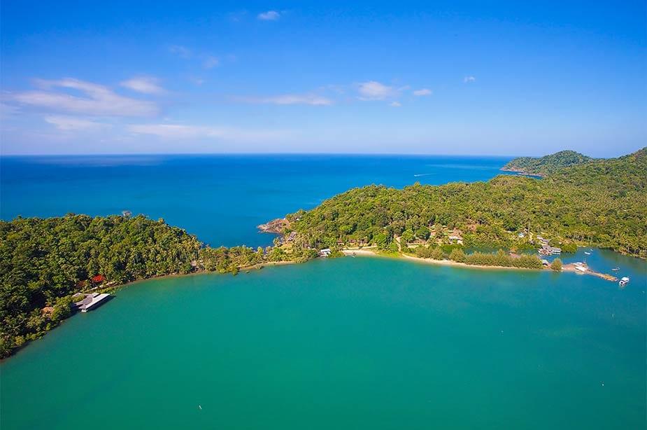 Blik op het mooie eiland van Koh Chang, tip voor je reis naar Thailand