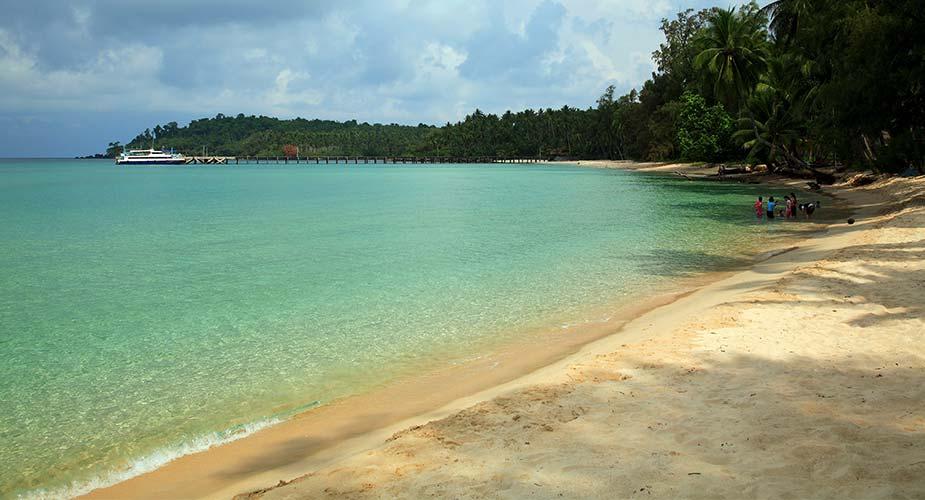 Rustig strand op Koh Kood