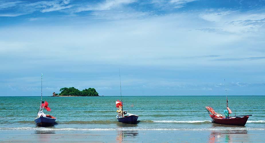 Strandje bij de plaats Chanthaburi