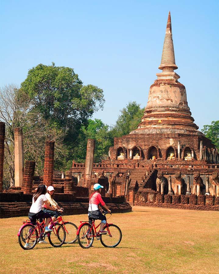 Bezoek tijdens je reis naar Thailand de overblijfselen van het oude koninkrijk bij Sukhothai