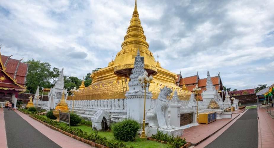 tempel in het stadje Nan in Thailand