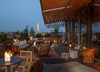 Dakterras hotel Brach in Parijs met uitzicht op Eiffeltoren