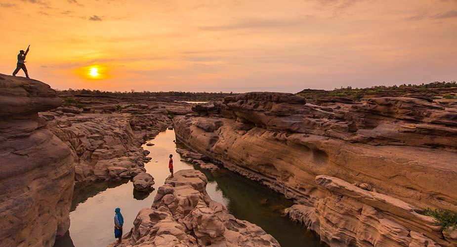 Het bijzondere landschap bij de Mekong