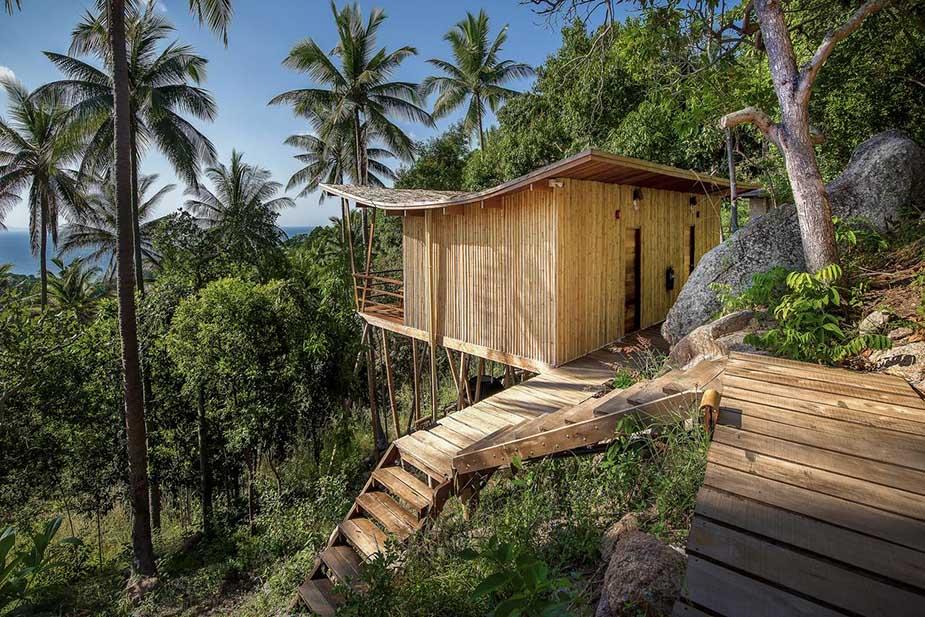 duurzaam in thailand overnachten bij Ecotao lodge