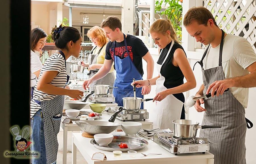 kooklessen in thailand bij Courageous Kitchen