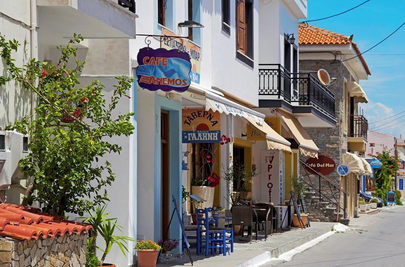 Dorpje Kokkari op Samos