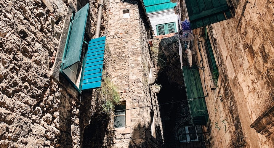 Historisch centrum Split huizen