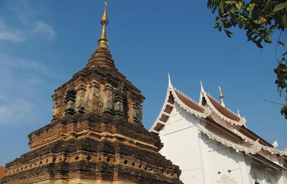 Een van de vele tempels in Chiang Mai