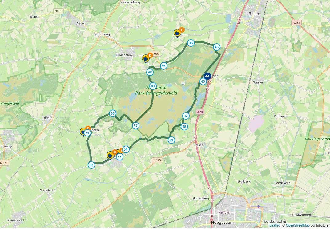Fietsen in Nederland, de Holtveen fietsroute in Drenthe is een leuke route
