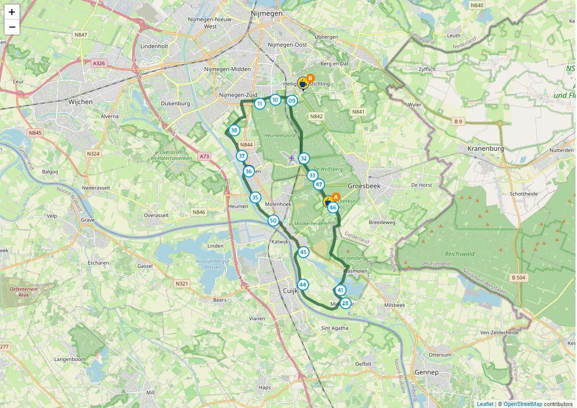 Fietsen in Gelderland, de Nijmegen route