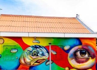 Street Art op het kleurrijke Curaçao